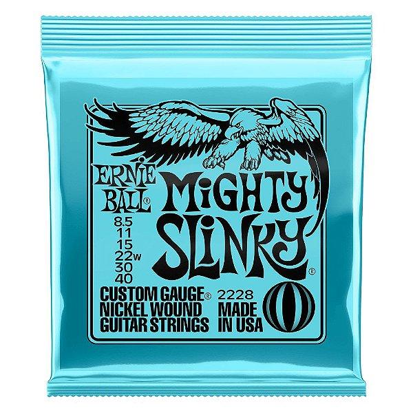 Enc. 0085 -040 P/ Guitarra 6 Cordas Mighty Slinky P02228 Ernie Ball