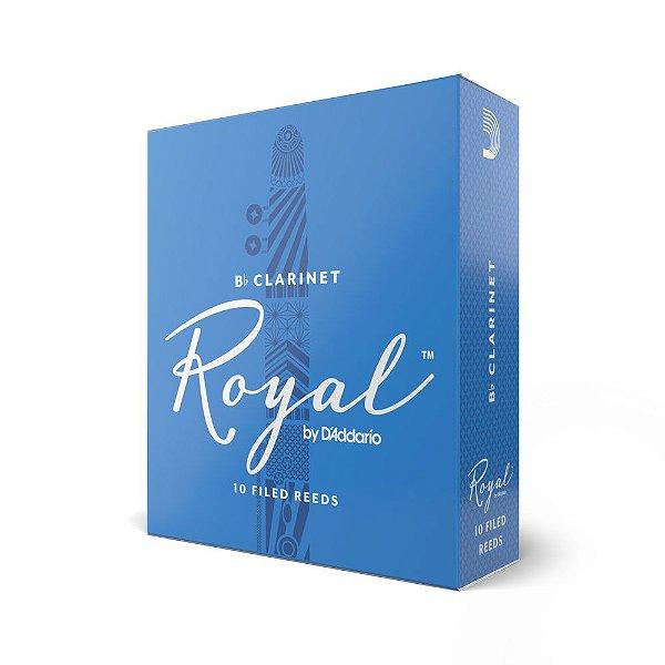 Palheta Clarineta 2.5 (caixa com 10) D'Addario Woodwinds Rico Royal RCB1025