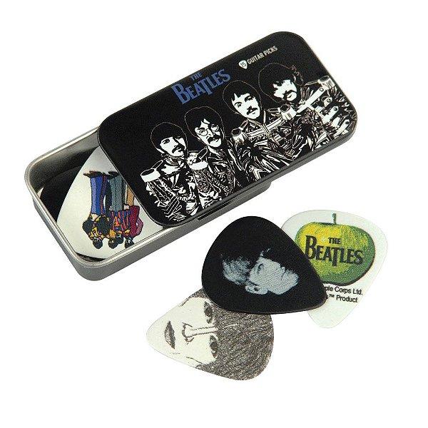Palheta Para Guitarra The Beatles Com Lata Especial Sgt\u002e Peppers \u0028Pacote Com 15 Palhetas Variadas\u0029 D\u002