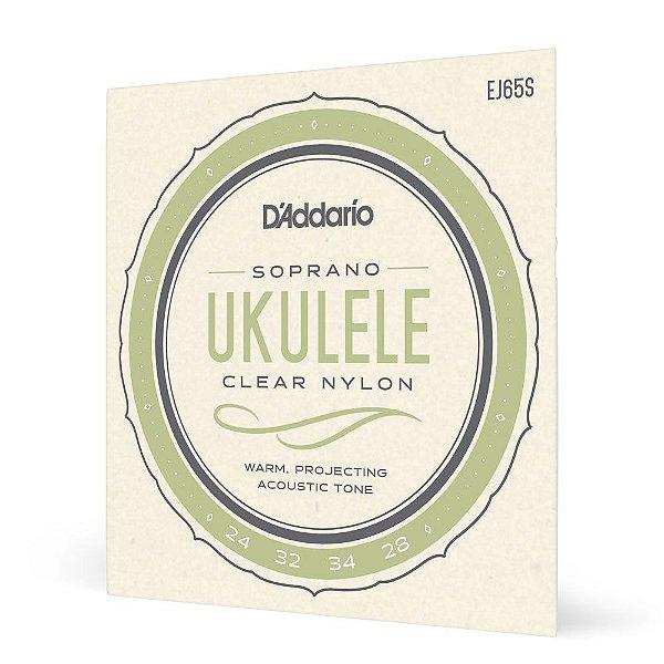 Encordoamento Ukulele Soprano D'Addario Pro-Arté Nylon EJ65S