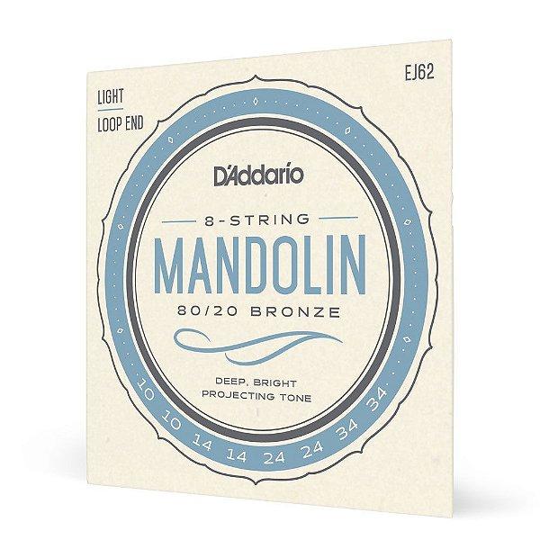 Encordoamento Bandolim .010 D'Addario Bronze 80/20 EJ62