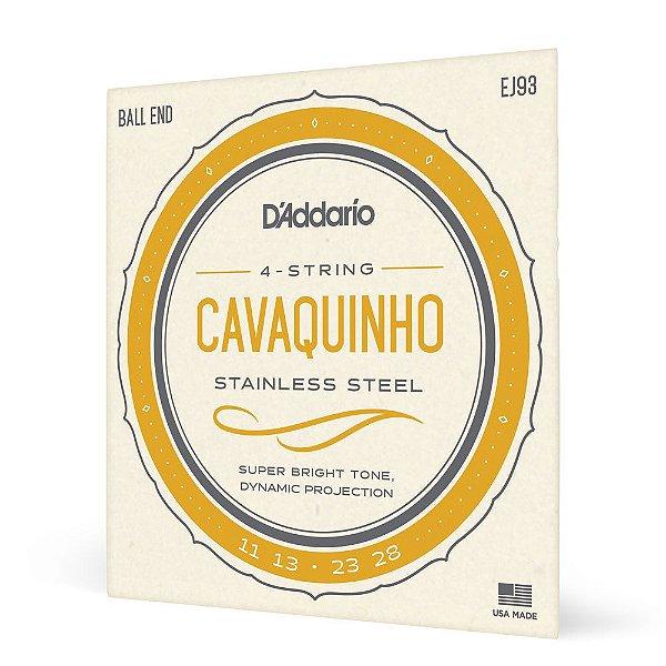 Encordoamento Cavaquinho .011 D'Addario Stainless Steel EJ93