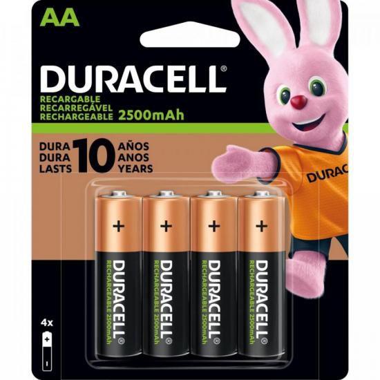 Pilha Recarregável AA 2500-mAh (Cartela c/4 pilhas) DURACELL