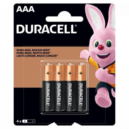 Pilha AAA Palito MN2400 (Caixa c/ 48 pilhas)(Cartela c/ 4 pilhas) DURACELL - CXF / 12