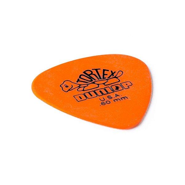 Palheta Tortex 0,60mm Laranja Pct C/12 418p.60 Dunlop