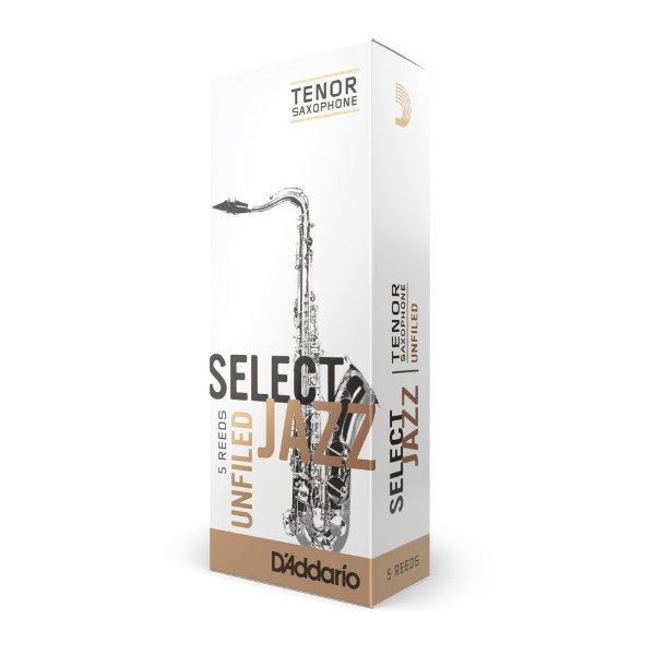 Palheta Sax Tenor 3M (caixa com 5) D'Addario Woodwinds Select Jazz Unfield RRS05TSX3M