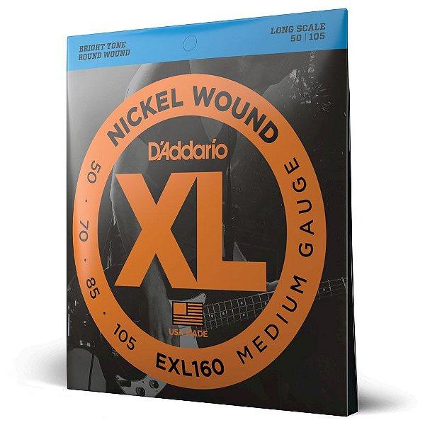 Encordoamento Baixo 4C .050 D'Addario XL Nickel Wound EXL160