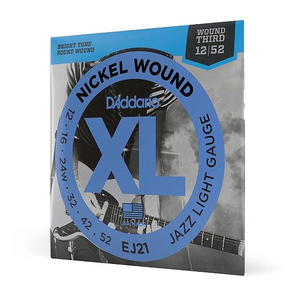 Encord Guitarra .012 3ª Encap D'Addario XL Nickel Wound EJ21