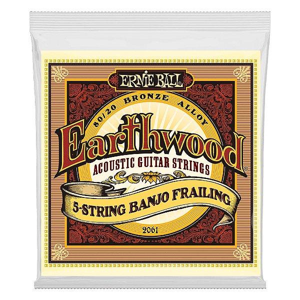 Enc. 010-024 P/ Banjo 5 Cordas Earthwood Frailing Loop End (laco) 80/20 Bronze P02061 Ernie Ball