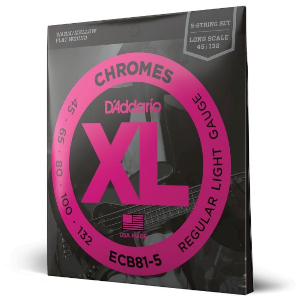 Encordoamento Baixo 5C .045 D Addario XL Chromes ECB81-5SL