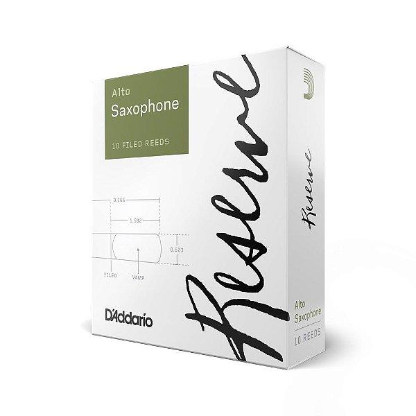 Palheta Sax Alto 2.5 (caixa com 10) D Addario Woodwinds Reserve DJR1025