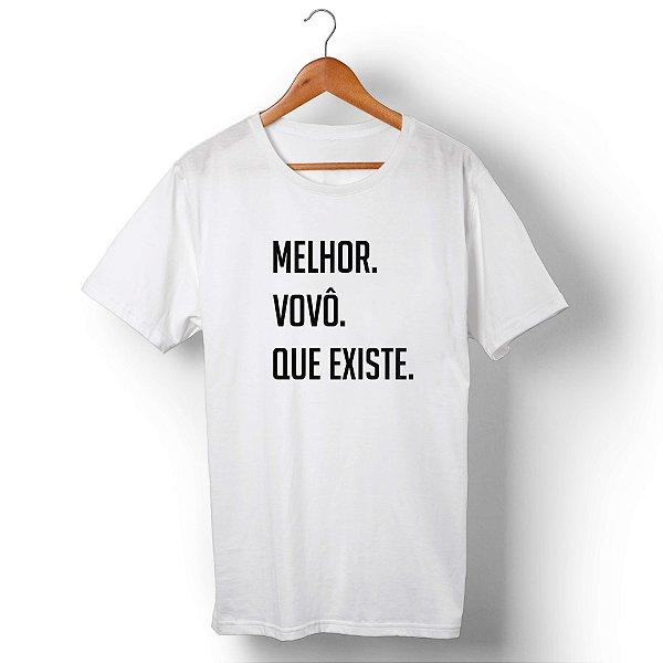 Camiseta Unissex Melhor Vovô Que Existe Branca