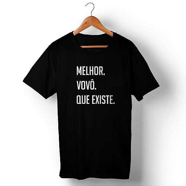 Camiseta Unissex Melhor Vovô Que Existe Preta