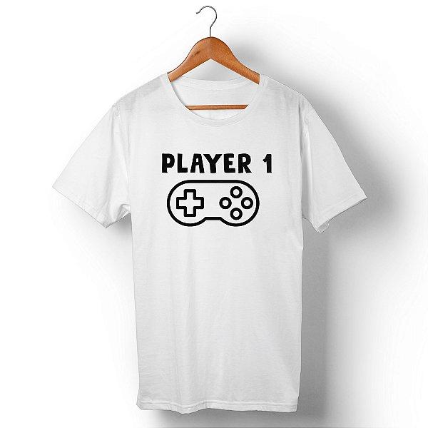 Camiseta Unissex Player 1 Branca