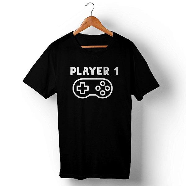 Camiseta Unissex Player 1 Preta