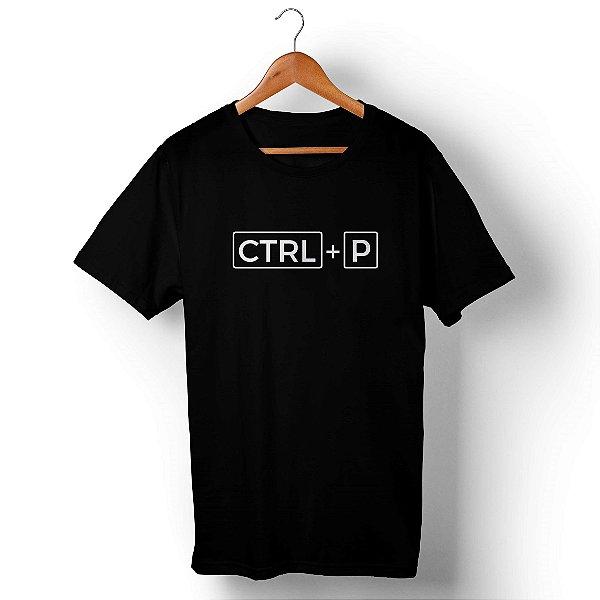 Camiseta Unissex Ctrl+P Preta