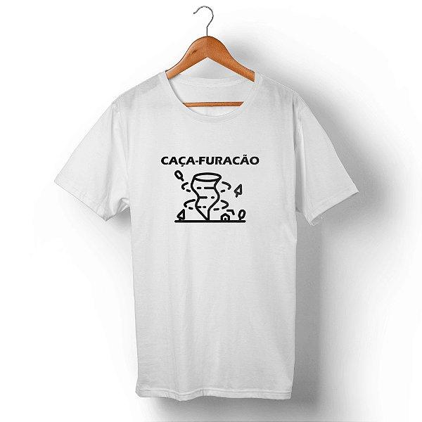 Camiseta Unissex Caça-Furacão Branca