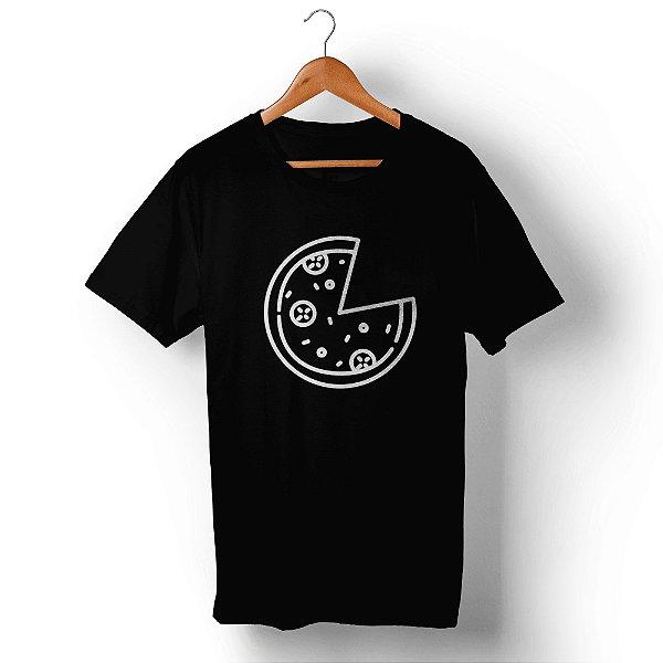 Camiseta Unissex Pizza Preta