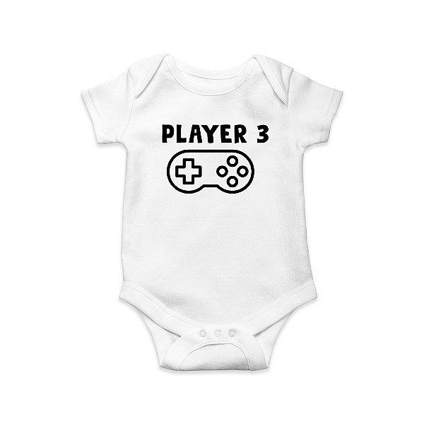 Body ou Camisetinha Infantil Player 3 Branco