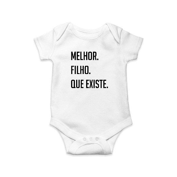 Body ou Camisetinha Infantil Melhor Filho Branco