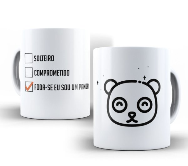 Caneca Sou um Panda Branca