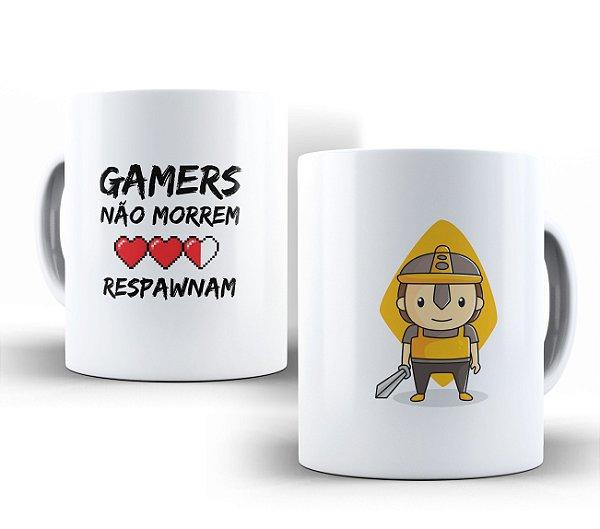 Caneca Gamers Não Morrem Branca