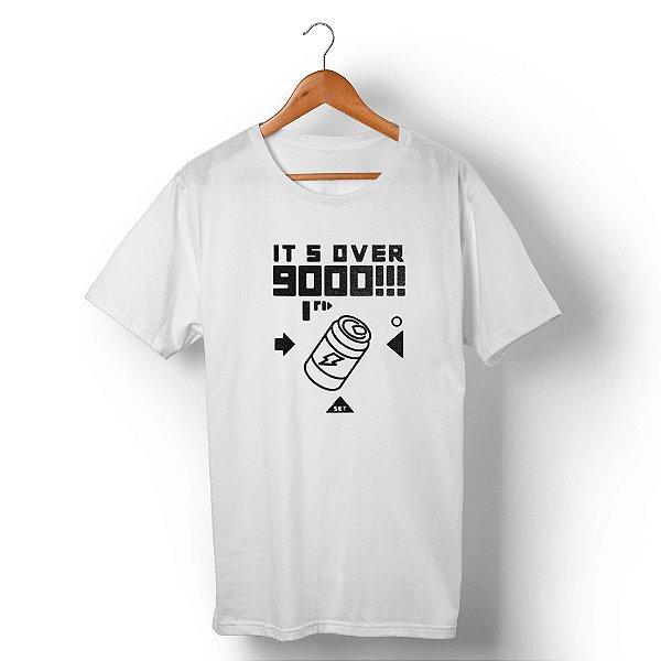 Camiseta Unissex Over 9000 Branca