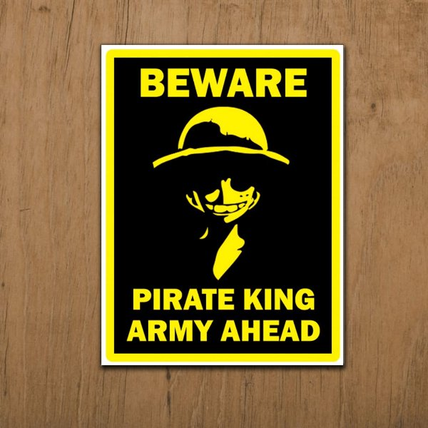 Placa Decorativa Pirate King's Army
