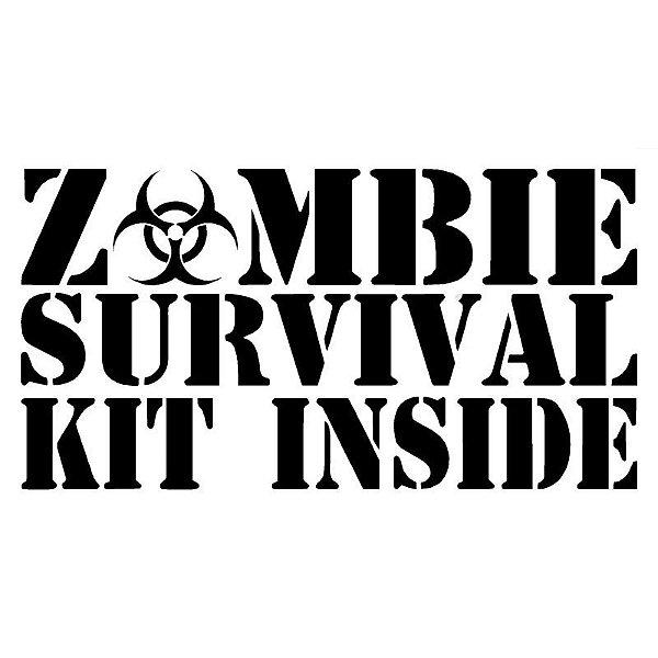 Adesivo - Zombie Survival kit inside