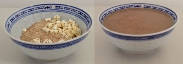 Sopa de feijão com bacon e macarrão - comida pronta Liofilizado, ração militar