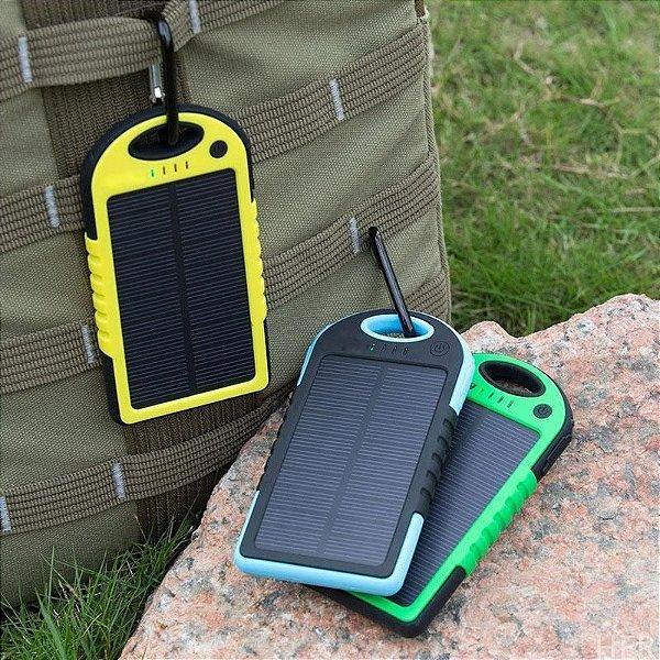 Carregador Solar Com Bateria Interna