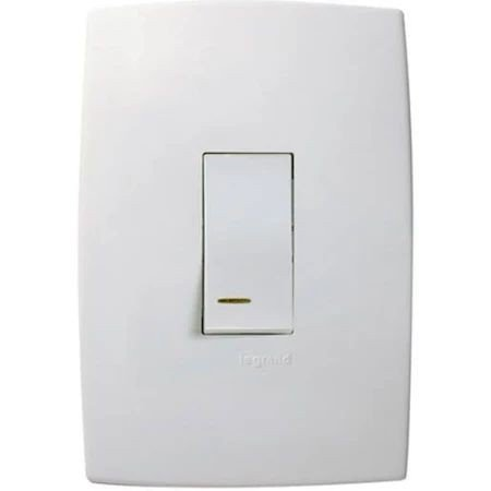 Pial plus - conjunto de interruptor com led 10a branco cód