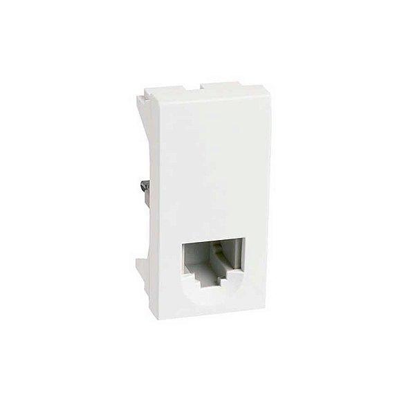 Pial plus - módulo tomada 2 pinos p/ telefone rj11 2 fios -