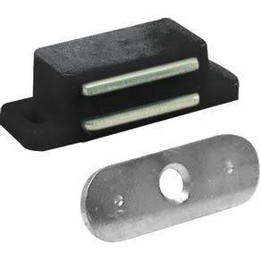 Fecho magnético preto para armários