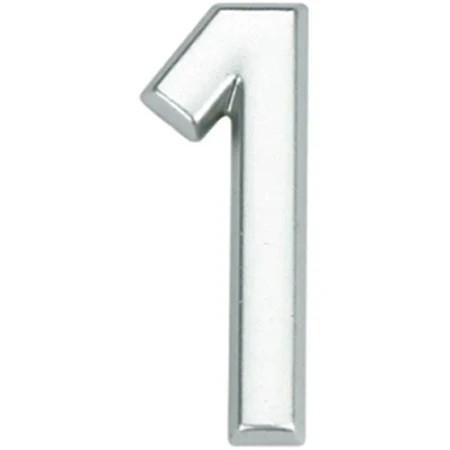 Numero 1 cromado