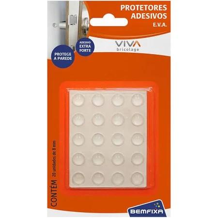 Protetores adesivos transparentes redondos 8mm
