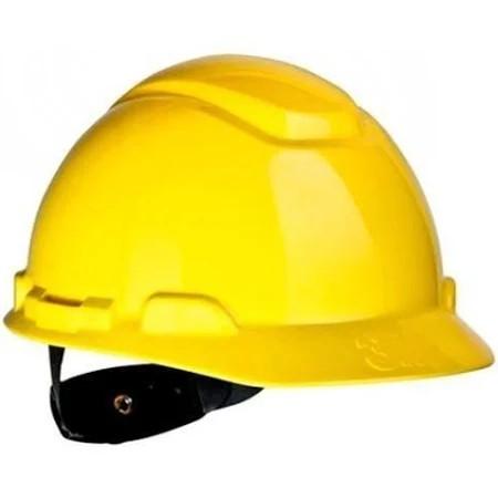 Capacete com aba frontal 3m catraca h-700 amarelo