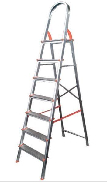 Escada de alumínio 6 degraus residencial - eds006