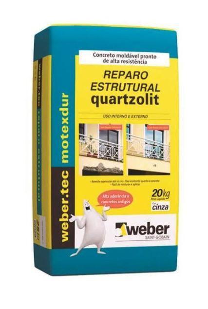 Argamassa de reparo estrutural 20kg - Weber Quartzolit