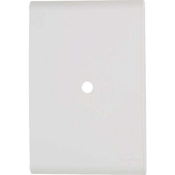 Placa com 1 furo 9,5 mm 4x2  liz branca