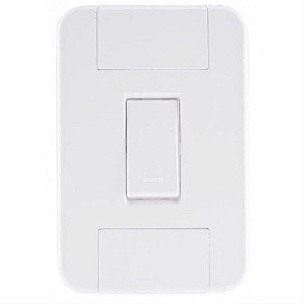Conjunto tablet branco 4x2 com 1 interruptor simples de 10