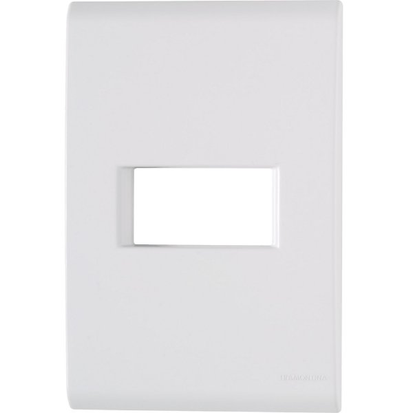 Placa 1 posto horizontal 4x2  liz branca