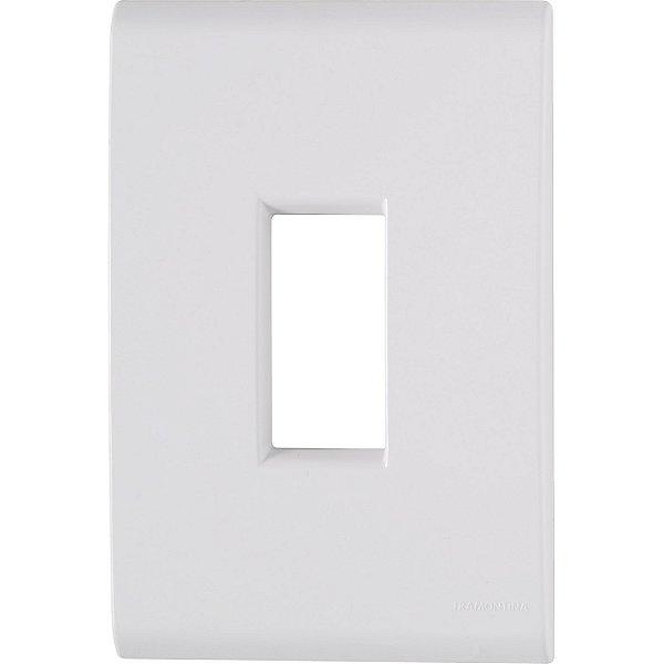 Placa 1 posto vertical 4x2  liz branca