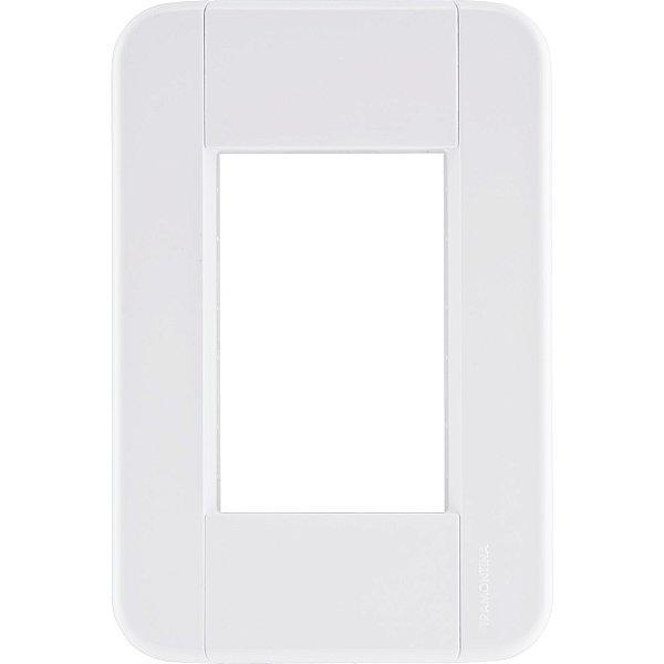 Placa 3 postos 4x2  tablet branca