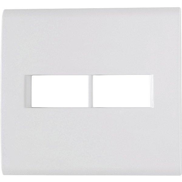 Placa 2 postos 4x4  liz branca