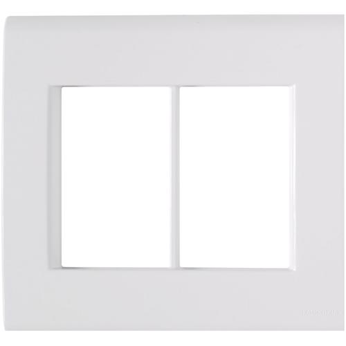 Placa 6 postos 4x4  liz branca