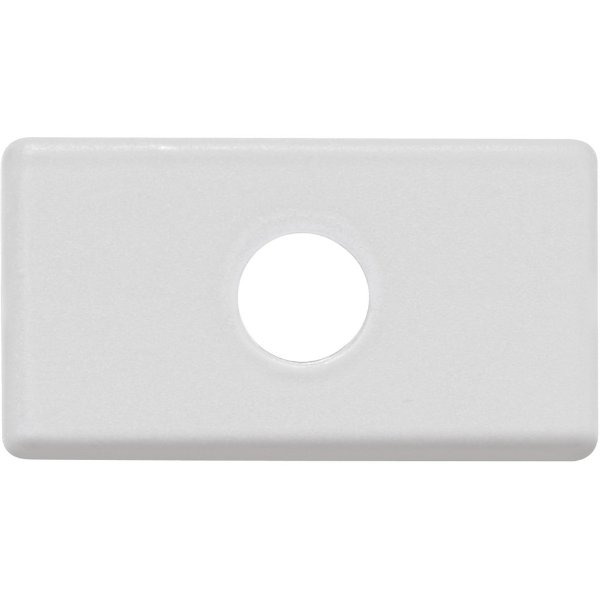 Módulo tampo com 1 furo 9,5 mm  branco