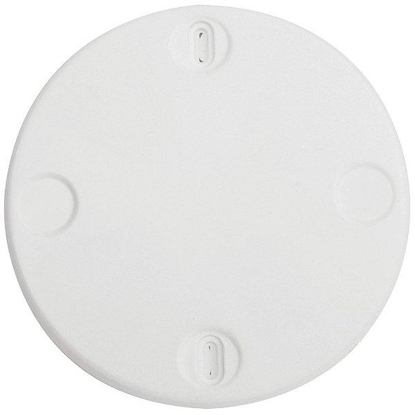 Tampa redonda para teto 3x3  branca