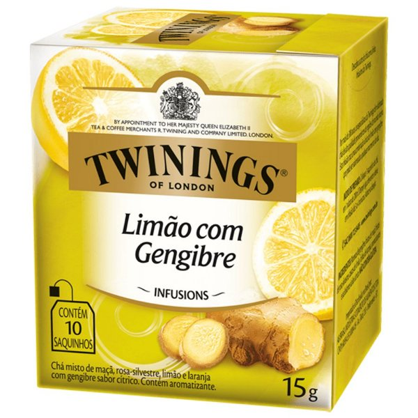 Chá de Limão com Gengibre Twinings - 15g / 10 sachês