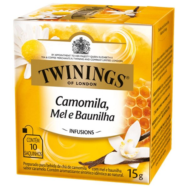 Chá de Camomila, Mel e Baunilha Twinings - 15g / 10 sachês
